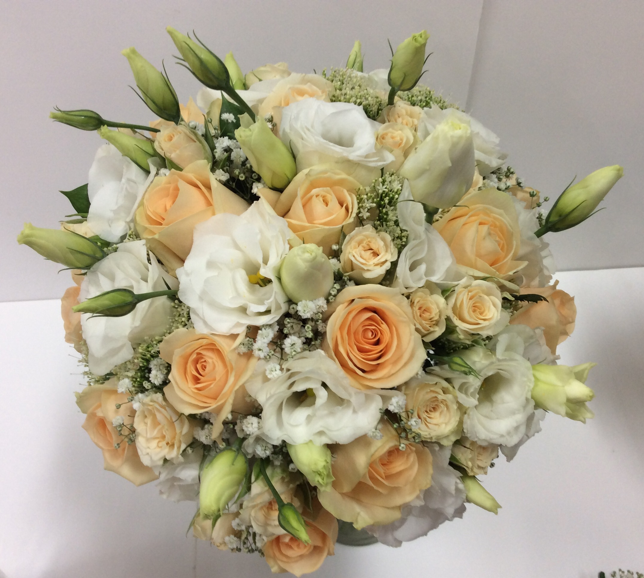 Wedding Cream And Apricot Bridal Bouquet Flower Wholesalers Takapuna